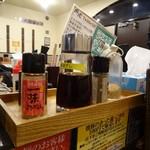 横道 - 料理写真:卓上の調味料類