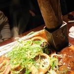 旬彩酒庵 おねぎや - 鍬焼きイカゴロ焼き