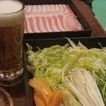 たなか屋 - 野菜盛り・肉・びあ