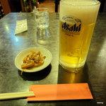 四川料理 榮華樓 - 生ビールとつきだし