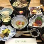 温泉ゆぽぽ - 料理写真:夕食膳