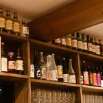 一軒家居酒屋 一堂 - ボトル棚