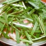 ニラたっぷりモツ鍋(醤油)