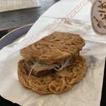 ふれあいパーク喜多の郷 - 料理写真:喜多方ラーメンバーガー