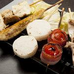 やきとりBAR HIBIKI+ - 野菜たっぷり「ピオニーセット」