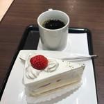66カフェ - ケーキセット(680円)