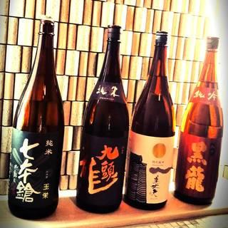 全国各地より仕入れた日本酒あります!