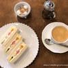 欧風菓子エノモト - 料理写真:フルーツサンドとコーヒー