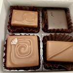 チョコレート工房 クレオバンテール - ジャーン!!今回はこの4種類を選びました♡