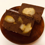 恵那川上屋 - 濃厚栗蒸しショコラ、栗がいっぱい!