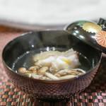 照寿司 - クエときのこのお椀