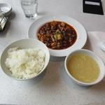 人人人 - ライス・麻婆豆腐・スープ