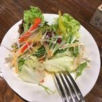 トラットリア チェントパスタ - サラダ(1口食べた)