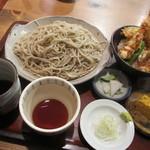 そば処 みかど - 「ミニ天丼セット  ¥1.200」