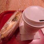 ウフ タマコ サンド - 高菜サンドのドリンクセット