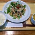 KAITEKI CAFE - 豚バラ肉の冷しゃぶ@KAITEKI CAFE