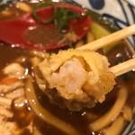 丸亀製麺 - 海老天断面