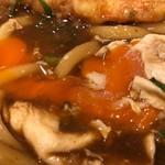 丸亀製麺 - 流れる黄身〜