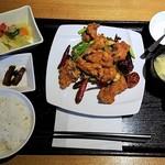 蜀膳坊 - 鶏肉四川風炒め 上空から