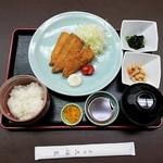 赤坂 三河家 - 豊洲発 活きアジフライ定食 上空から