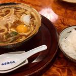 山本屋本店 - 料理写真:名古屋コーチン入り味噌煮込み ごはん