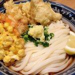 釜たけ流 うめだ製麺所 - 鶏天ぶっかけ(大)