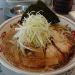 五百川食堂 - こってり醤油ねぎラーメン。