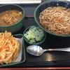 ゆで太郎 - 料理写真:朝カレー丼セット(¥360)+かき揚げ(¥0)+そば大盛(¥0)