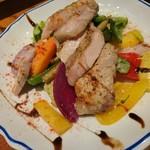 Agio - 国産豚のロースト 焼き野菜添え