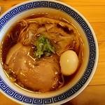 大衆酒場 ビートル - ワンタン麺_味玉入り(2019.02)