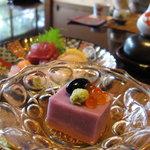 夏の家 - 紫芋の豆腐(前菜)