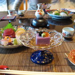 夏の家 - 前菜と御造り(1)