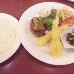 10200677 - 和風おろしハンバーグ&海老の天ぷら