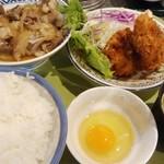 満とり - 牛皿と豚ヒレ