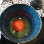 旬魚介×串揚げ Kushi‐Toria M's - 綺麗な生卵