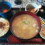 旬魚介×串揚げ Kushi‐Toria M's - 豚汁定食900円