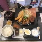 熟成かつ 天膳 - 料理写真:海老フライミックスランチ