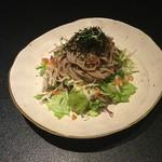 北信州の旬野菜たっぷりレストラン しんこきゅう - お蕎麦のサラダ 3人前