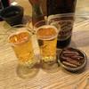 まんまる - ドリンク写真:ビールで乾杯! 骨せんべいをポリポリ('19/02/16)