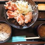 鶏一 - 2019年2月 からあげ定食(竹) からあげ4個 702円