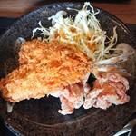 鶏一 - 2019年2月 伊豆あじフライ定食(梅) あじ1尾 旨塩からあげ2個 843円