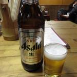 山びこ - ドリンク写真:瓶ビール(大瓶) 700円 (2019.2)