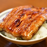明神下 神田川 - 料理写真:蒲焼@4,000円:腹をオン・ザ・ライス。ライスは別途料金