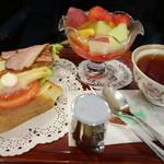 神戸にしむら珈琲店 - モーニングフルーツセットです☆ 2019-0210訪問