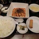 四川料理 川国志 - 麻婆豆腐定食950円