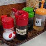 柳川 - 卓上の調味料 酢は何に使うのだろう?