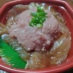 海の彩り丼丸 - ネギトロづけ丼550円(税別)