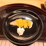 102039091 - 鮒寿司ちょっとだけ、いいですか? と言ったら丁寧に刻んで出してくれた。旨し!、