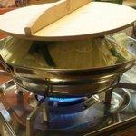 まる川反 - 塩もつ鍋。これで2人分です。
