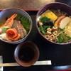 そば 寿し 花しん - 料理写真:ミニちらし寿司+しっぽく